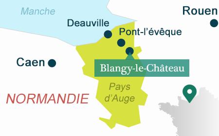 Carte de situation de Blangy-le-Château en Normandie