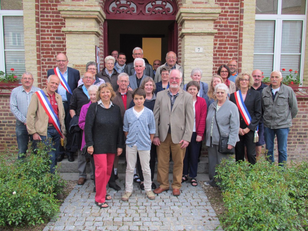 Le Comité de jumelage de North Tawton reçu à la mairie de Blangy le Château