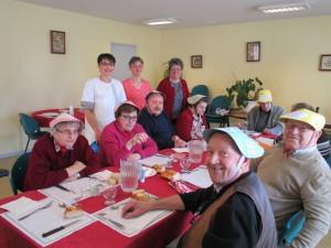 Le nouvel an chinois aux Douets, repas de fête. La table du doyen.