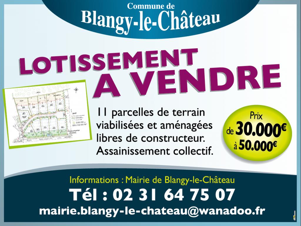 A vendre lotissement à Blangy le Château