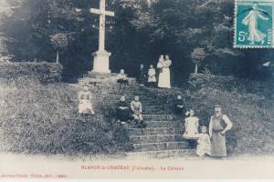 Le calvaire de Blangy le Château, photo d'époque