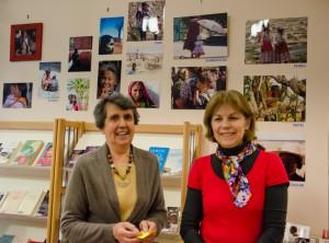 Andrée Guérin et Brigitte Leclerc exposent à la bibliothèque.