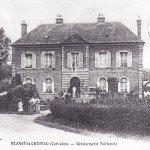 Ancienne gendarmerie de Blangy le Château carte postale