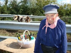Un agriculteur en costume normand au comice agricole de Blangy le Château
