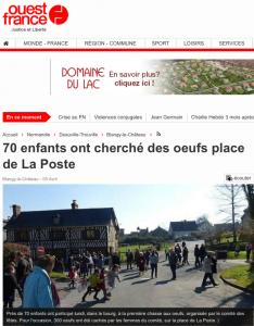 Article de Ouest-France sur la chasse aux œufs à Blangy le Château