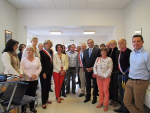 Inauguration officielle du site internet de Blangy le Château. Photo des élus et de Krea3