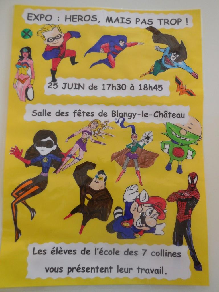 Exposition de l'école de 7 collines de Blangy le Château : Héros de légende