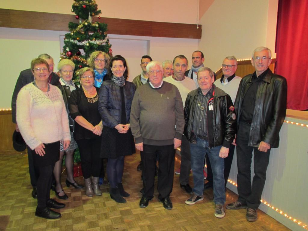 Audrey Gadenne, conseillère départementale, salle des fêtes de Blangy goûter de Noël du Brévedent