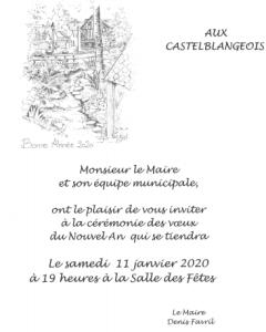 Invitation à la cérémonie des vœux du maire de Blangy le Château
