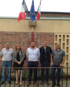 A l'issue de l'élection du maire : Photo Maire et adjoints de gauche à droite : D.Garcia, M-F.Mugnier, D.Coge, S.Reydellet, N.Moreau
