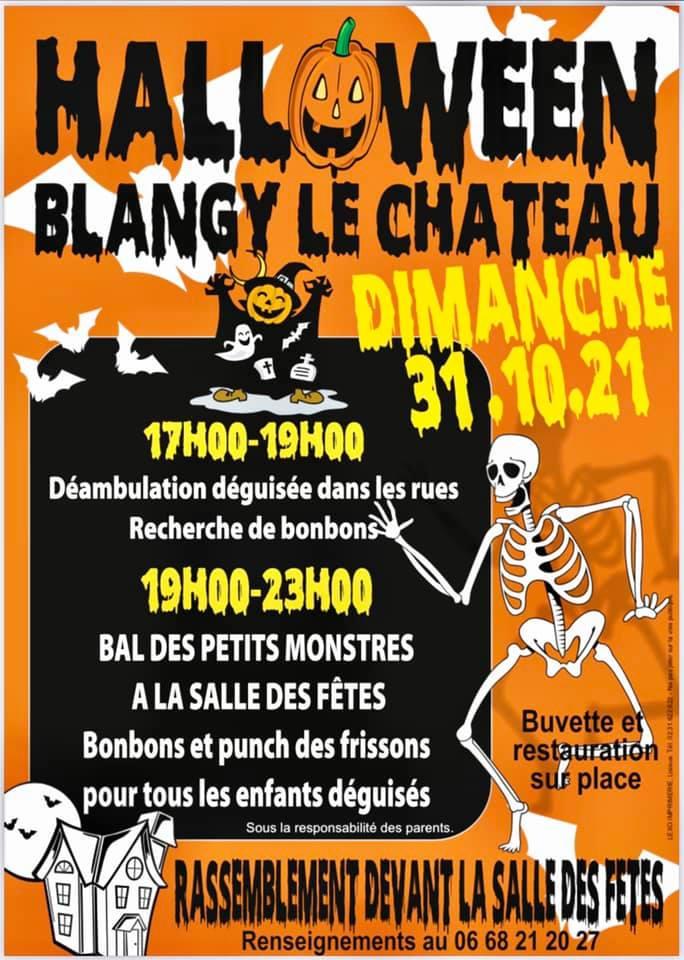 affiche Halloween à Blangy